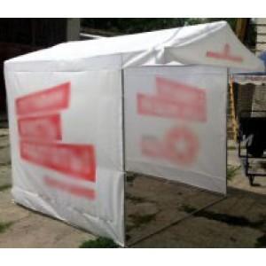 Палатка с передним треугольником и печатью (под заказ). Цена за м² печати.