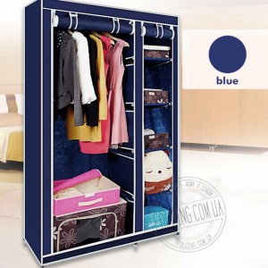 Сборный шкаф с тканевым чехлом «28109 blue»