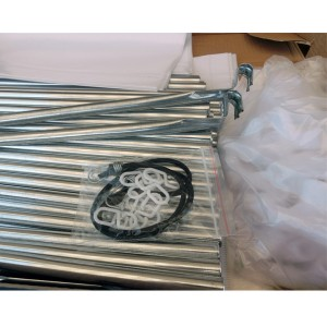 Шкаф тканевый YQF на 3 секции 130х45х175 см Белый&Черный (130-14А-04)