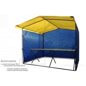 Торговый комплект 2,5х2 палатка (каркас 20мм) + стол 2м