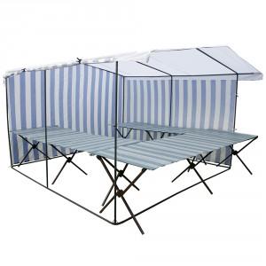 Торговый магазин 3х3 палатка (каркас 20 мм) + 2 стола 2,5 м + стол 3 м