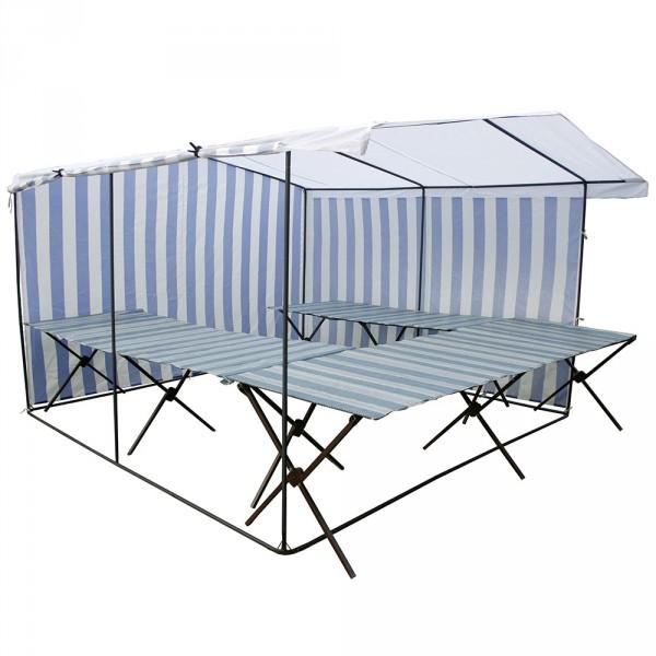 Торговый магазин 3м х 3м палатка (каркас 20 мм) + 2 стола 2,5 м + стол 3 м