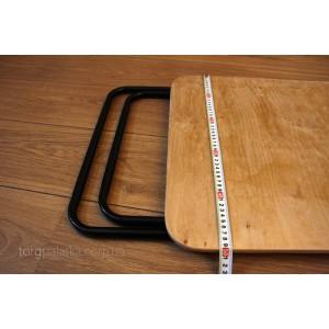 Торговый стол с круглым профилем 0,5 м х 0,75 м (столешница из фанеры)