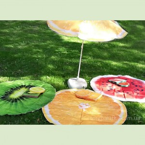 Пляжные зонты с печатью + подстилки и подушки